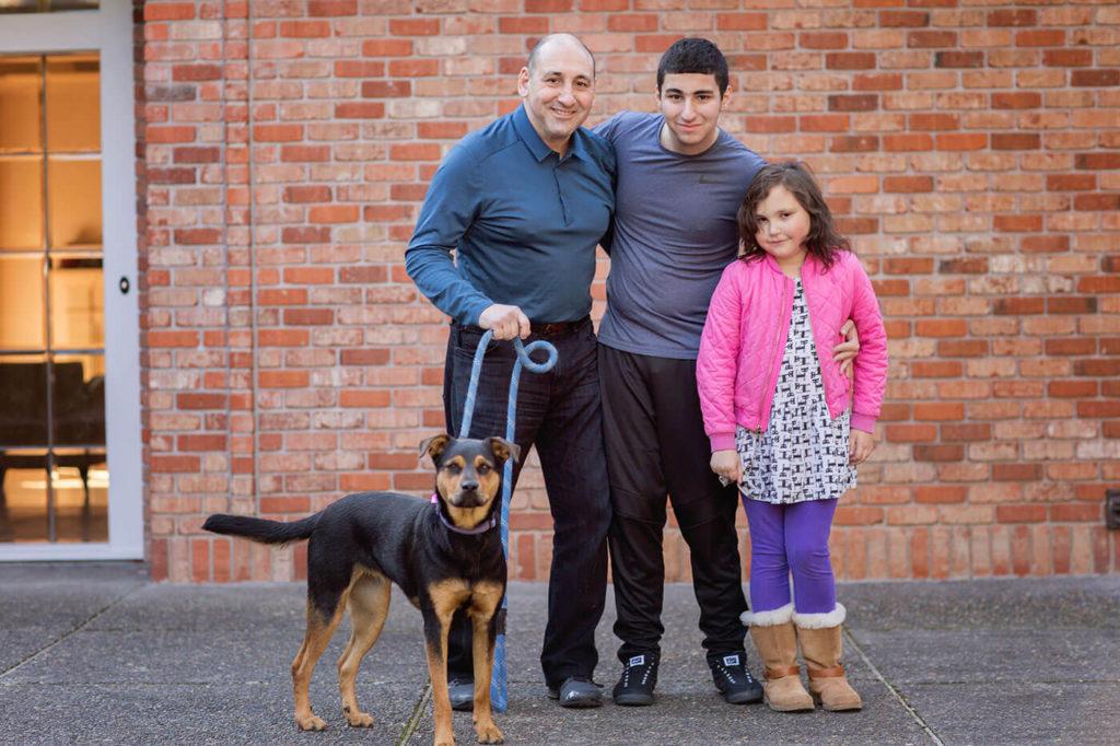 David Wolf, Porland Oregon Tutor, with his family